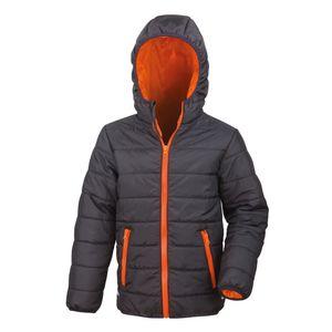 Result Core Kinder Junior Stepp-Jacke RW5242 (L) (Schwarz/Orange)