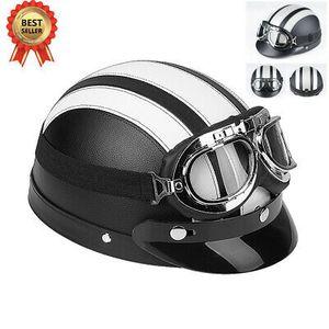 Motorradhelm Rollerhelm Jethelm Halbschalen Helm Sturzhelm Mit Schutzbrille