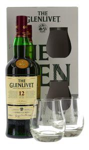 Glenlivet 12 Jahre Geschenkset Speyside Single Malt Scotch Whisky 0,7l, alc. 40 Vol.-%