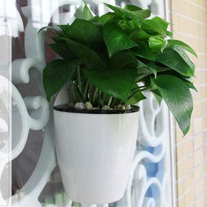 3 Packungen Robuste, Selbstbewässernde Wand Blumentopf Vase Für Den Hausgarten M