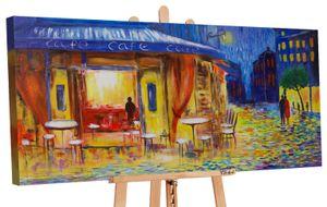 "YS-Art Acryl Gemälde ""Abendcafe"" 162"