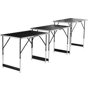 Kühnel Mehrzwecktisch Tapeziertisch, 3-tlg. - Maße pro Tisch: ca. 100 x 94 x 60 cm - Alu-Stahl-Gestell, klappbar