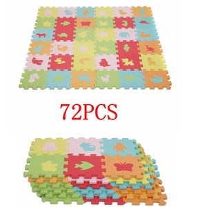 72 stück EVA Tierematte Animals Puzzle Matte  Schaum Spielzeug für Baby Kinder A soft