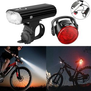 IPX4 wasserdicht LED Akku Fahrrad Beleuchtung Set Scheinwerfer Rücklicht Lampe