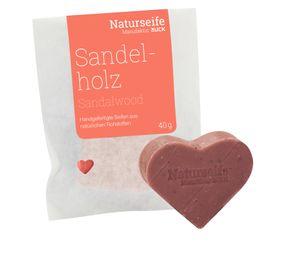 RUCK® Naturseife Herzform 40g - SANDELHOLZ