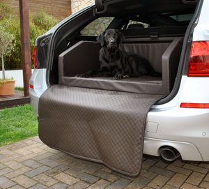 Hundebett Kofferraum Bett Braun S (90x70x38cm) Travel Autohundebett Schutzdecke Kunst Leder Autositz