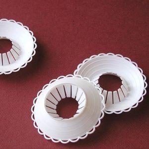 Tropfschutz Tropfenfänger für Kommunion oder Taufkerzen 3 bis 4 cm Durchmesser - 1 Stück