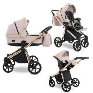 Kinderwagen alles in einem Set Previo by Lux4kids PR02 3in1 mit Babyschale