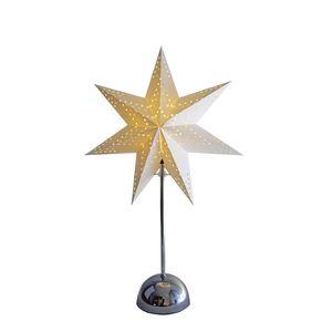 Best Season LED Standleuchte Cellcandle in Chrom und Weiß 55x35cm