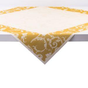 Sovie HOME Tischdecke Romantic in Gold aus Linclass® Airlaid 80 x 80 cm, 1 Stück - Einweg Mitteldecke Ornamente