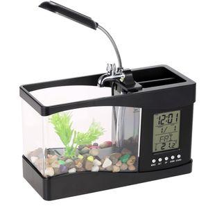 Anself LCD Fish Tank Aquarium Komplettset, Mini Aquarium , Aquarium