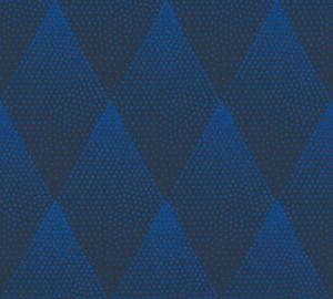 Livingwalls grafische Tapete New Walls 50's Glam Vliestapete blau schwarz 10,05 m x 0,53 m