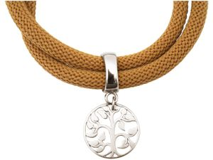 Damen Armband Wickelarmband 925 Silber Lebensbaum Braun