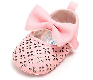 Baby Mädchen Prinzessin Bowknot Schuhe Neugeborenes Kind Weiche Sohle PolyurethanTurnschuhe, Pink 11cm