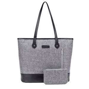 UtoteBag 15.6 Zoll Laptop-Einkaufstasche Umhängetaschen Damen, grau