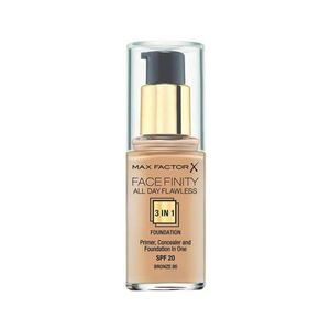 Max Factor Facefinity 3 In 1 Primer, Concealer And Foundation Spf20 80 Bronze 30ml