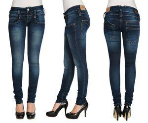 HERRLICHER Damen Jeans PITCH SLIM 5303 D9668 051 clean Denim Stretch, Größe:W27/L32