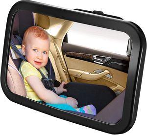 Auto Rücksitzspiegel für Babys - Weitwinkel für Kleinkinder & Neugeborene - 360° einstellbarer Autositz-Spiegel mit bruchsicherem Glas - Universelle Passform für Kinderschale, Kindersitz, Babysitz