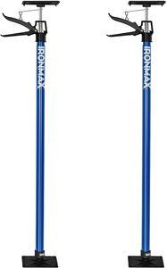 GOPLUS 2er Set Teleskop Stützstange, Deckenstütze, Montagestütze, aus Stahl, 114-290cm H?henverstellbar, Belastbar bis 30 kg, Schnellspannstütze für Handwerk, Geeignet für Viele Oberfl?chen, Blau