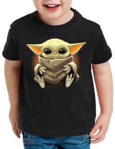 style3 Chibi Yoda T-Shirt für Kinder mini mando kopfgeldjäger, Größe:152