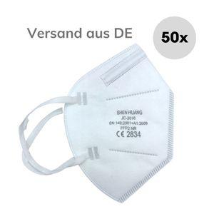 50x Atemschutzmasken FFP2 NR EN149:2001 Mundschutz Maske Firelia Schutzmaske Gesichtsmaske OP Masken Staubmaske Atemschutz Mundmaske Eexi