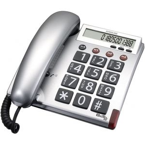 amplicomms BigTel 48 silber schnurgebunden Telefon Seniorentelefon