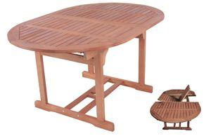 Garden Pleasure Garten Holz Tisch ausziehbar Bangkirai Esstisch Terrasse Möbel