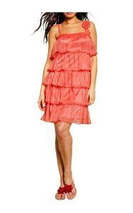 APART Chiffon-Volantkleid, hummer Kleider Größe: 36