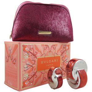 Bvlgari Bulgari Omnia Coral Set 65 ml Eau de Toilette & 15 ml EDT Mini & Tasche