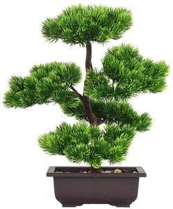 Künstlicher Bonsai-Baum, gefälschte Pflanzendekoration, künstliche Zimmerpflanzen in Töpfen, japanische Bonsai-Kiefernpflanze, 33 cm hoch, für Haupt-Desktop-Display