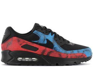 Nike Air Max 90 - Black Tie-Dye - Herren Schuhe Schwarz DJ6888-001 , Größe: EU 46 US 12