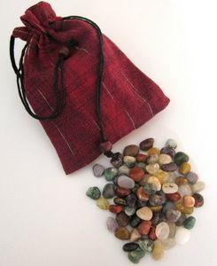 Edelsteine - Trommelsteine - 75 Stück - bunt gemischt - Größe ca. 8-15 mm - mittlere Größe