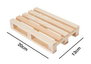Miniatur-Holzpalette geschliffen 12cm x 13cm