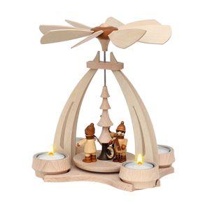 72 0013 Holz Teelicht-Tischpyramide Laternenkinder SIGRO