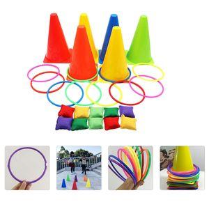 1 Set Kinder Ringwurf Spiel Bunte Wurfring Spielzeug Ringwurf Spiel Spielzeug