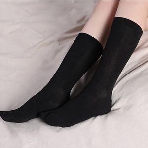 Sandalen Socken Tabi Split 2 Zehensocken Für Ninja Geta Kimono Flip Flop Schwarz 30-32 cm Flip Flop Socken Zwei Zehen