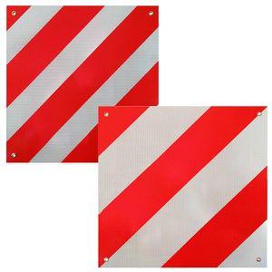 2in1 Warntafel Spanien UND Italien Aluminium 500mm rot-weiß Heckträger Anhänger