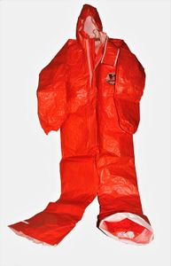 3S ProChem Overall Ganzkörperanzug orange Schutzanzug Gr. S Schutz-Anzug KAT 3
