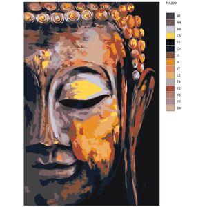 """Malen nach Zahlen Buddha Gesicht"""", 40x60cm, RA309"""
