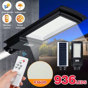 1000 W 936 LED Solar Panel Straßenlaterne Straßenlampe Lichtsensor Solarleuchte