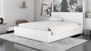 Polsterbett Bett Doppelbett GIANO 200x200cm inkl.Bettkasten