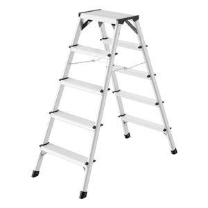 Hailo D60 StandardLine Doppelstufenleiter 2x5 Stufen