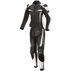 Büse Mille 2-Teiler Damen Motorrad Lederkombi Farbe: Schwarz/Weiß, Grösse: 38