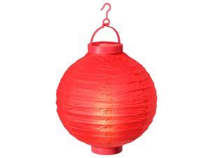 Alsino LED Papier Lampion Papierlaterne Laterne 20 cm Gartendeko Dekoration, Variante wählen:L-05 rot
