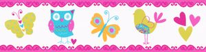 A.S. Création selbstklebende Bordüre Only Borders 9 blau bunt orange 5,00 m x 0,13 m 895417