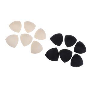 Dreieck BH-Pad-Einsatz für Sport-BH und Bikini-Oberteile Schaumeinlagen, 6 Paar, Beige und Schwarz