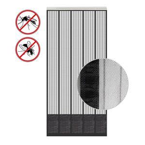 Insektenschutz Tür mit Kederleiste 185x65cm Breite und Länge einstellbar