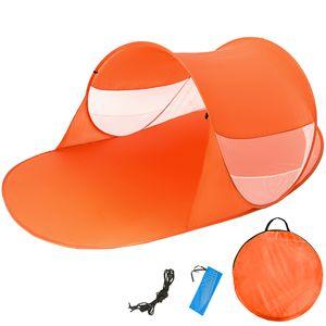 tectake Pop-Up Strandmuschel Angelika - orange