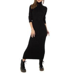 Ital-Design Damen Kleider Strickkleider Schwarz Gr.s/M