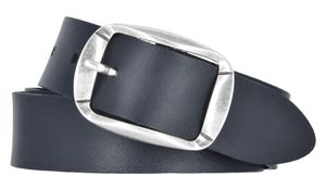 Damengürtel Ledergürtel 3,5 cm Rindleder in div. Farben schwarz 110